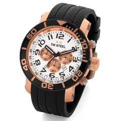 TW Steel divers watch 48mm rose gold plated TW77