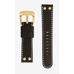 TW Steel 22mm black leather strap TWB25