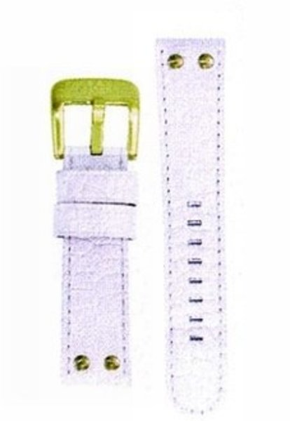 TW Steel TW Steel 22mm white croco leather strap TWB29