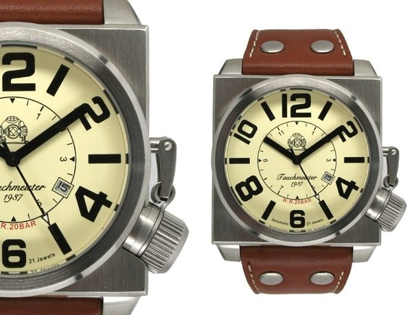 Tauchmeister Tauchmeister extra big automatic watch T0209