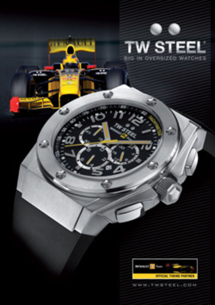 TW Steel TW Steel TW680 Renault F1 Team CEO Tech Chrono Watch 44mm
