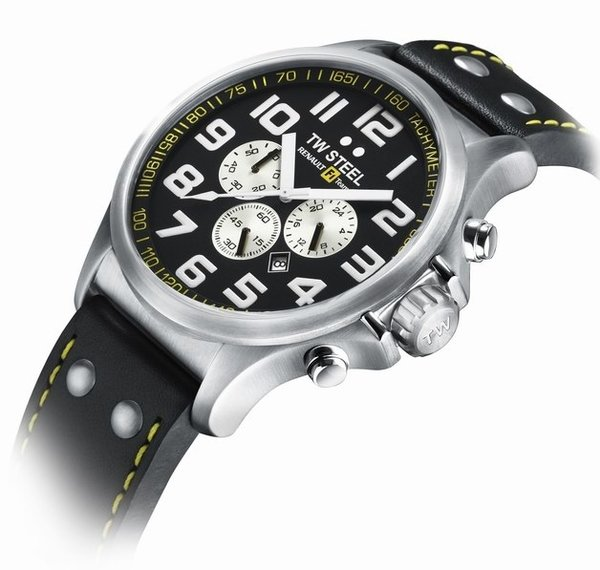 TW Steel TW Steel Renault F1 Team Pilot Chronograph Watch 45mm TW672