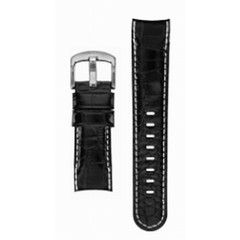 TW Steel 22mm black leather band