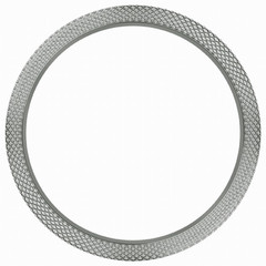 Marc Coblen bezel hammered steel 50 mm MCB50SH