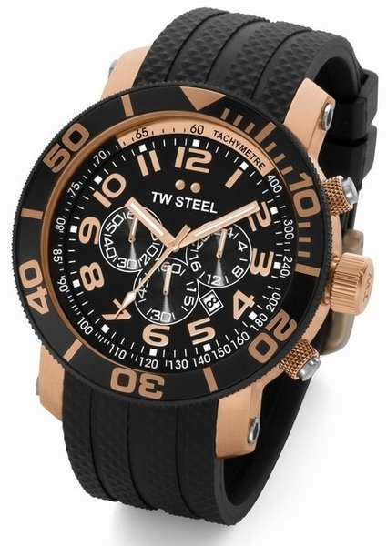 TW Steel TW Steel diverswatch TW92 48mm rose gold plated