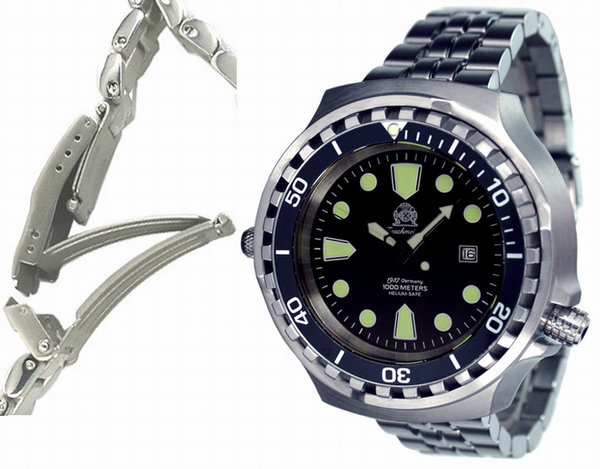 Tauchmeister Tauchmeister T0256M Diver Craft 1000m automatic XXL watch