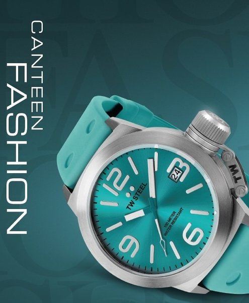 TW Steel TW Steel TW525 Canteen Fashion watch turquoise 45 mm DEMO