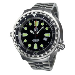Tauchmeister T0275M Ronda GMT XXL diver watch 100 ATM