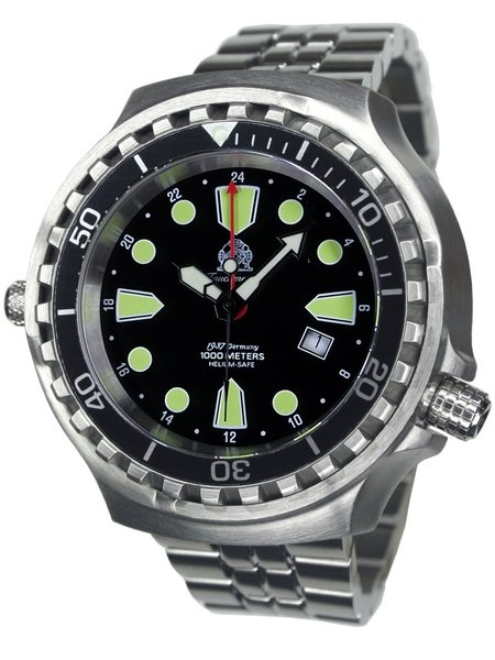 Tauchmeister Tauchmeister T0275M Ronda GMT XXL diver watch 100 ATM