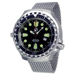 Tauchmeister T0275MIL Ronda GMT XXL diver watch 100 ATM