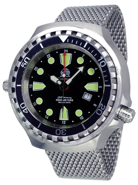 Tauchmeister Tauchmeister T0275MIL Ronda GMT XXL diver watch 100 ATM