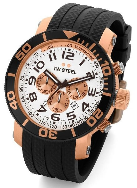TW Steel TW Steel diverswatch TW76 45mm rose gold plated