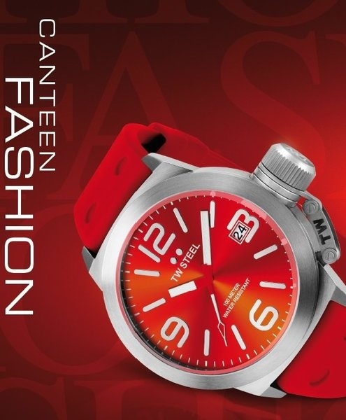 TW Steel TW Steel TW510 Canteen Fashion watch red 45 mm DEMO