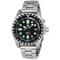 Tauchmeister Tauchmeister T0284M automatic diver watch with steel strap 100 ATM