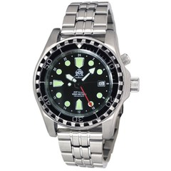Tauchmeister T0284M automatic diver watch with steel strap 100 ATM