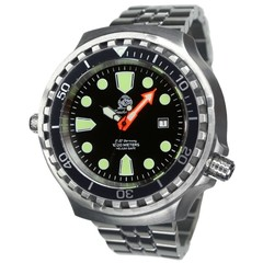 Tauchmeister T0285M automatic diver watch XXL with steel strap 100 ATM