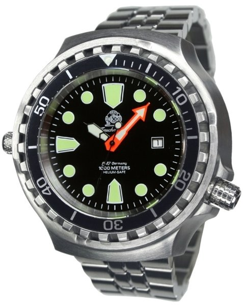 Tauchmeister Tauchmeister T0285M automatic diver watch XXL with steel strap 100 ATM