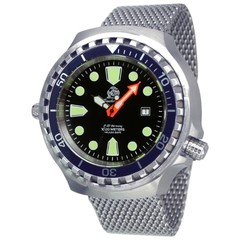 Tauchmeister T0285MIL automatic diver watch XXL Milanese 100 ATM