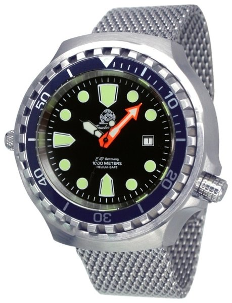 Tauchmeister Tauchmeister T0285MIL automatic diver watch XXL Milanese 100 ATM