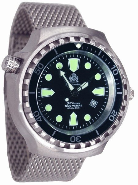 Tauchmeister Tauchmeister T0253MIL Diver Craft XXL steel automatic watch 100ATM