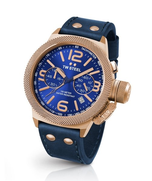 TW Steel TW Steel CS63 Canteen Leather chronograph watch 45 mm