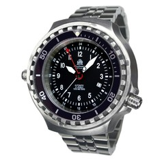 Tauchmeister T0308M automatic diver watch with steel strap XXL