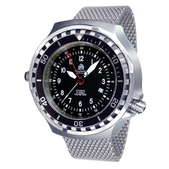Tauchmeister T0308MIL automatic diver watch with Milanese strap XXL