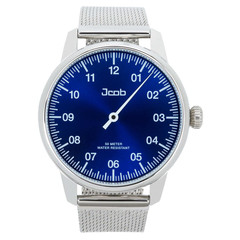 Jcob Einzeiger JCW003-SS01 one hand watch blue