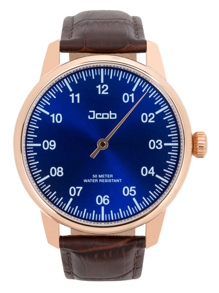 Jcob Jcob Einzeiger JCW004-LR01 one hand watch rose gold/blue