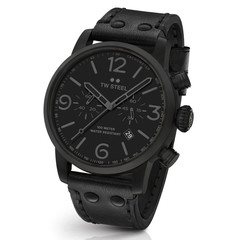 TW Steel MS114 Maverick All Black chronograph watch 48mm