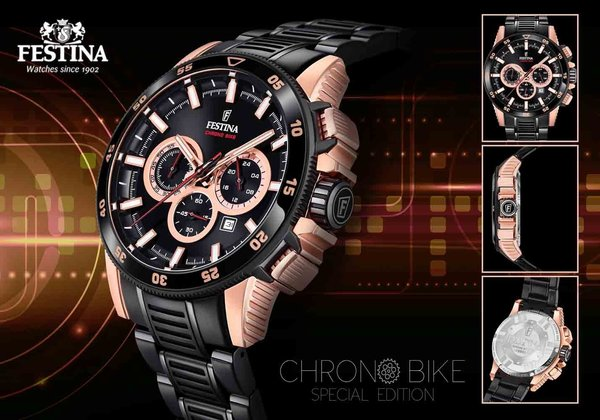 Festina Festina F20354/1 Chrono Bike 2018 Uhr Special Edition 43mm