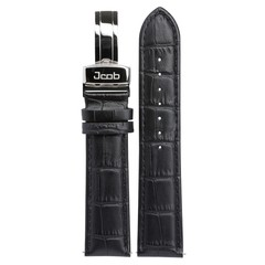 Jcob Einzeiger JCS-LS02 leather watch strap black