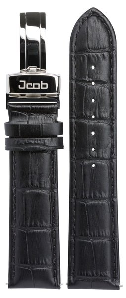 Jcob Jcob Einzeiger JCS-LS02 leather watch strap black