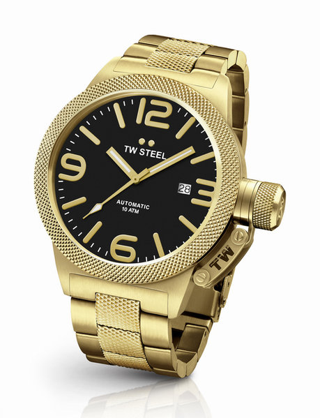 TW Steel TW Steel CB95 Canteen Bracelet automatic men's watch 45mm gold DEMO
