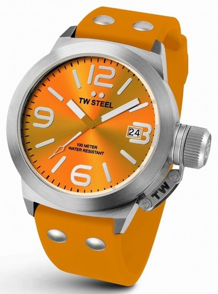TW Steel TW Steel TW530 Canteen Fashion watch orange 45 mm DEMO