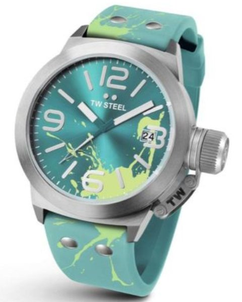 TW Steel TW Steel TW552 Canteen Fashion watch turquoise 45 mm DEMO