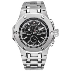 V.O.S.T. Germany V100.001 Steel chrono mens watch 44mm