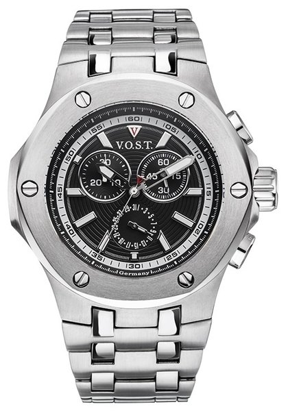 V.O.S.T. Germany V.O.S.T. Germany V100.001 Steel chrono mens watch 44mm