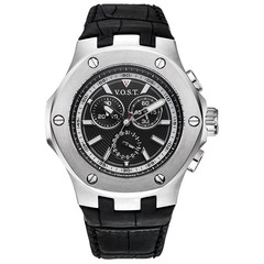 V.O.S.T. Germany V100.002 Steel chrono mens watch 44mm