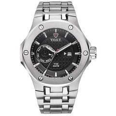 V.O.S.T. Germany V100.003 Steel multifunction mens watch 44mm