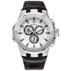 V.O.S.T. Germany V100.005 Steel chrono mens watch 44mm