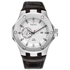 V.O.S.T. Germany V100.006 Steel multifunction mens watch 44mm