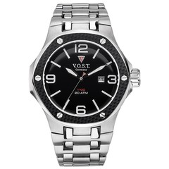 V.O.S.T. Germany V100.009 Carbon Steel mens watch 44mm