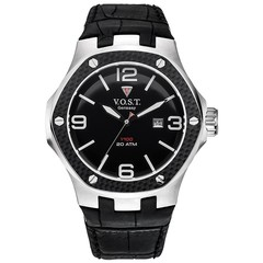V.O.S.T. Germany V100.010 Carbon Steel mens watch 44mm