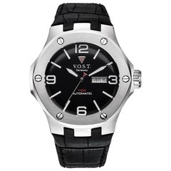 V.O.S.T. Germany V100.015 Steel automatic mens watch 44mm
