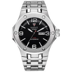 V.O.S.T. Germany V100.016 Steel automatic mens watch 44mm