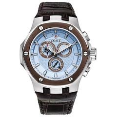 V.O.S.T. Germany V100.019 Blue chrono mens watch 44mm