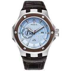 V.O.S.T. Germany V100.020 Blue Multifunction mens watch 44mm
