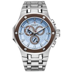 V.O.S.T. Germany V100.021 Blue chrono mens watch 44mm