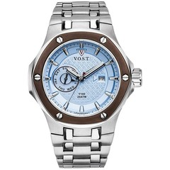 V.O.S.T. Germany V100.022 Blue Multifunction mens watch 44mm